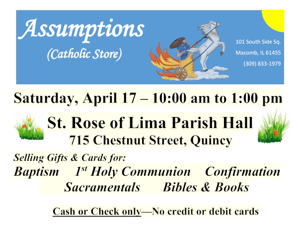Assumptions Catholic Store at St. Rose April 17