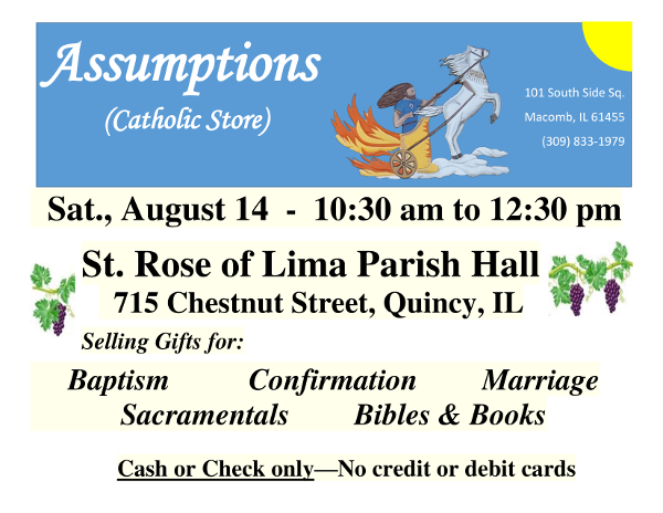 Assumptions Catholic Store at St. Rose August 14