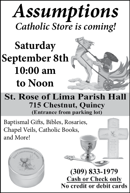 Assumptions Catholic Store coming to St. Rose September 8