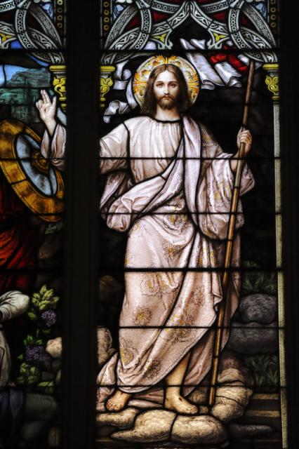 Risen Christ in Stained Glass